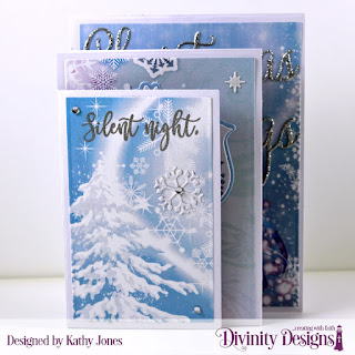 Stamp Set: Silent Night Custom Dies: Four Panel Card with Layers, Christmas Dove, Christmas Greetings Paper Collection: Christmas 2019