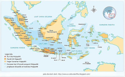 Peta Wilayah kekuasaan Majapahit