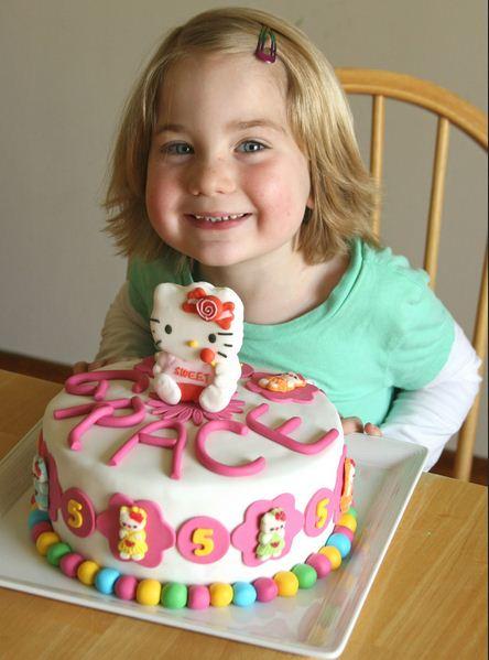 Gambar Kue Manis Ulang Tahun Hello Kitty Tart Juga Fondant