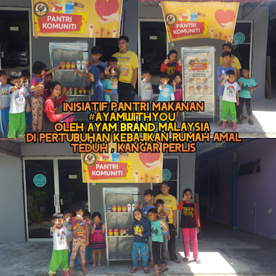 Kolaborasi, event campaign , ayam brand malaysia, pantri makanan komuniti, ayam brand with you, inisatif piham ayam brand dalam membantu komuniti perlis, program amal, komuniti perlis, rumah amal teduhan kangar perlis, senarai rumah kebajikan di perlis