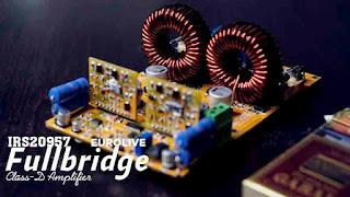 Full-bridge IRS20957 Class-D Amplifier