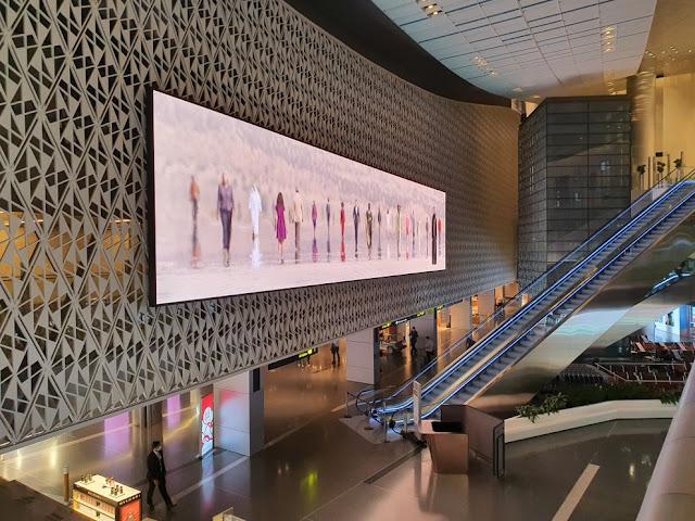 conexão aeroporto de Doha