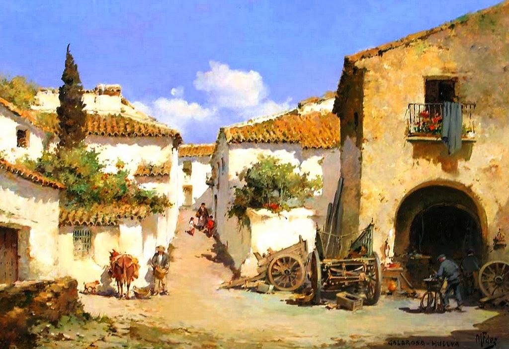 Cuadros modernos pinturas y dibujos paisajes campesinos - Los cuadros mas bonitos ...