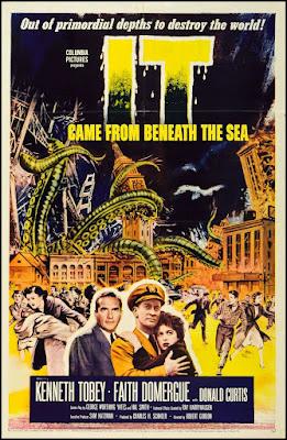 Póster película Surgió del fondo del mar - 1955