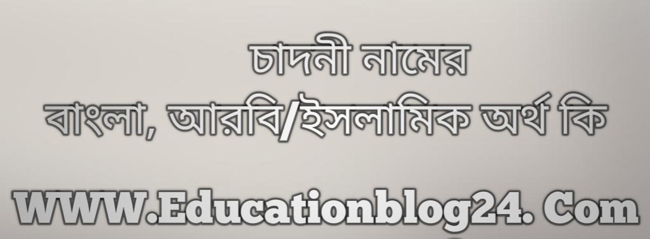 Chadni name meaning in Bengali, চাদনী নামের অর্থ কি, চাদনী নামের বাংলা অর্থ কি, চাদনী নামের ইসলামিক অর্থ কি, চাদনী কি ইসলামিক /আরবি নাম