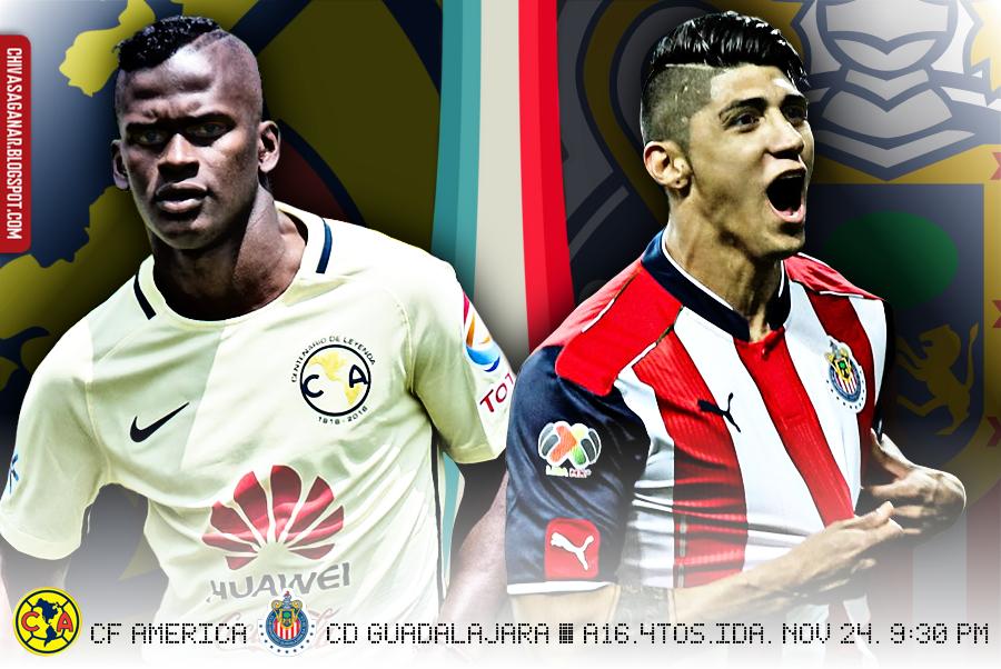 Liga MX : CF América vs CD Guadalajara - Apertura 2016 - Cuartos de Final - Ida.