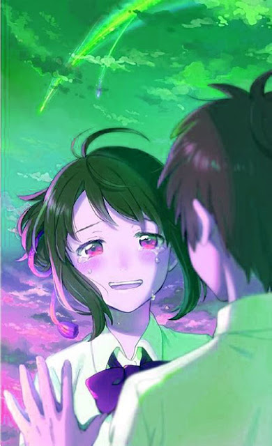 sad cute anime girl wallpaper