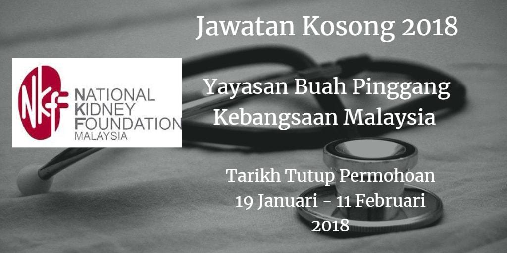 Jawatan Kosong NKF 19 Januari - 11 Februari 2018