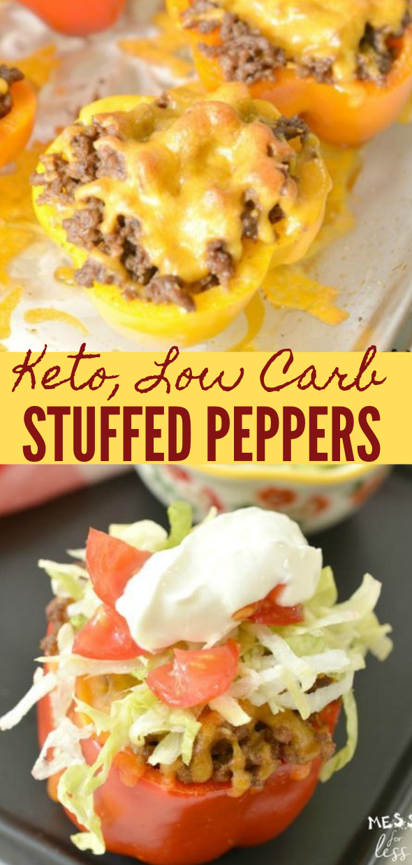 TACO STUFFED PEPPERS  #taco #pepper #whole30 #dinner #diet