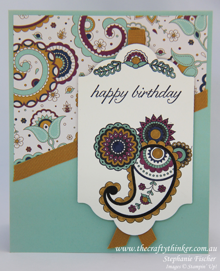 Stampin Up, #thecraftythinker, Paisleys & Posies, masking, #crazycraftersbloghop, card making, Stampin Up Australia Demonstrator, Castle Hill