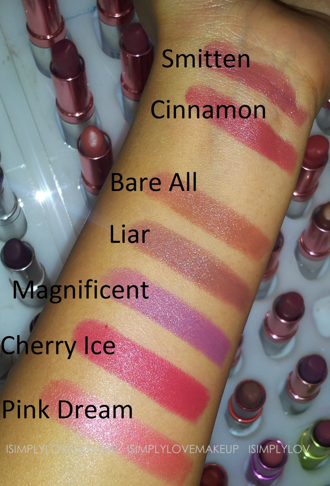 Swatch Fest: Colorbar Matte Touch Lipsticks