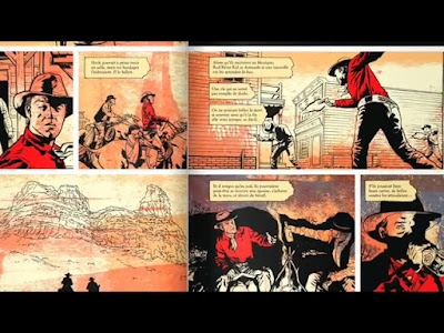 double page tiré des aventures de Red River Kid
