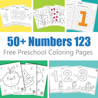 free 50+ free printable preschool coloring pages , 123 learn numbers for kids