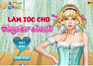 Game làm tóc cho Taylor Swift thú vị