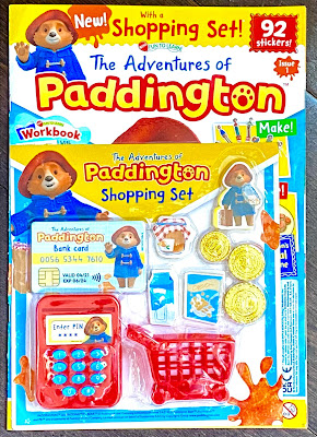 The front cover of Issue 1 of Paddington Magazine with toys attached