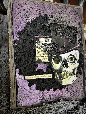 Sara Emily Barker https://sarascloset1.blogspot.com/2018/10/a-gleam-in-his-eye.html A Gleam In His Eye Tim Holtz Stampers Anonymous Sizzix Alterations Halloween Card 3