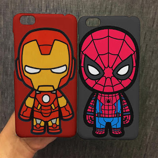 custom case iron man spiderman