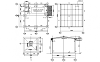 STEEL STRUCTURE FRAME PLAN AND ELEVATION WITH FOOTING IN AUTOCAD