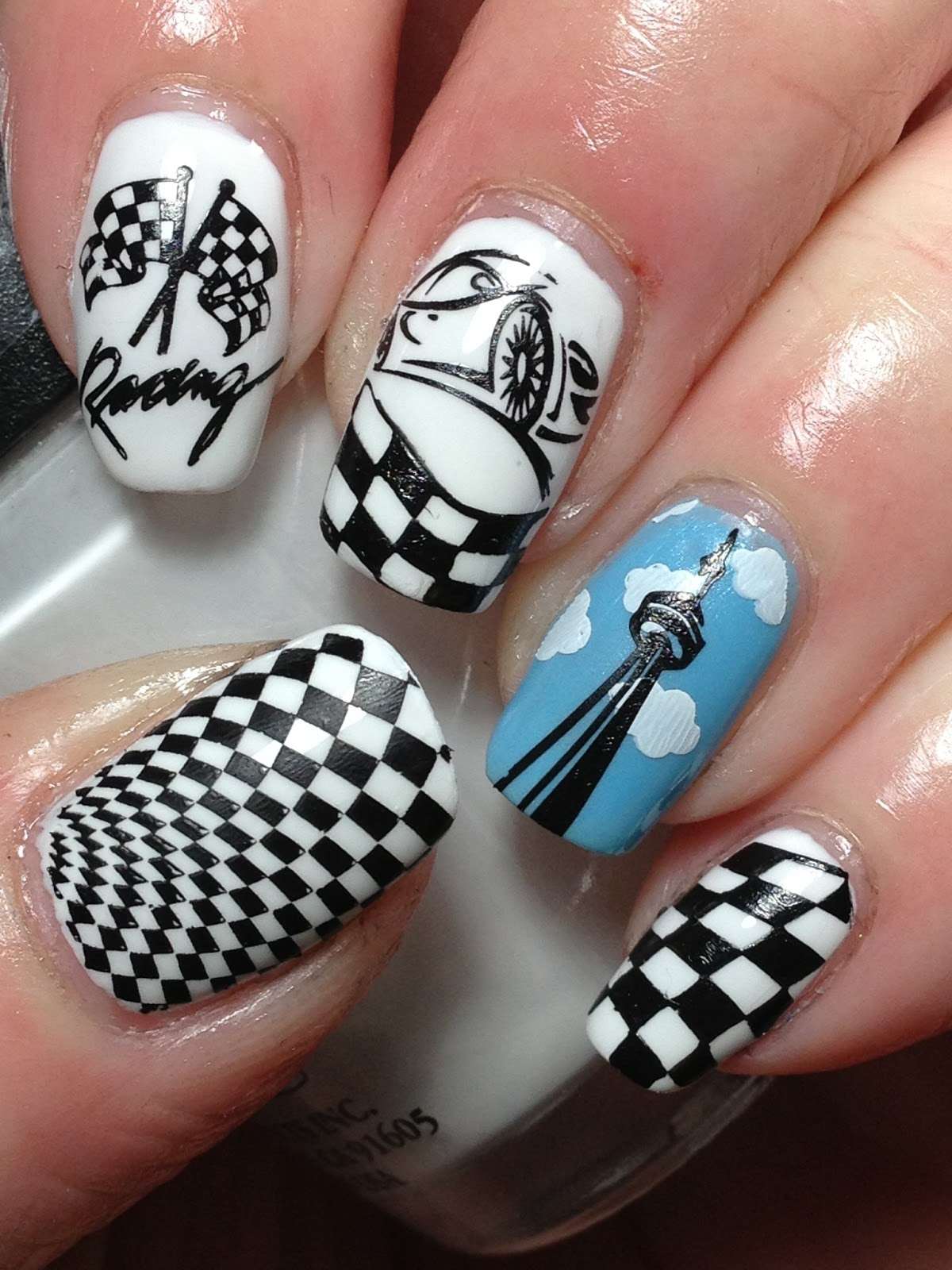 Nail Designs: 1000+ Ideas About Nascar Nails On Pinterest