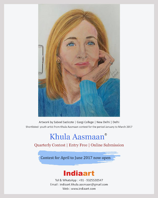 Painting by Sabeel Sadicote shortlisted from Khula Aasmaan contest for the quarter January to March 2017 (www.indiaart.com)