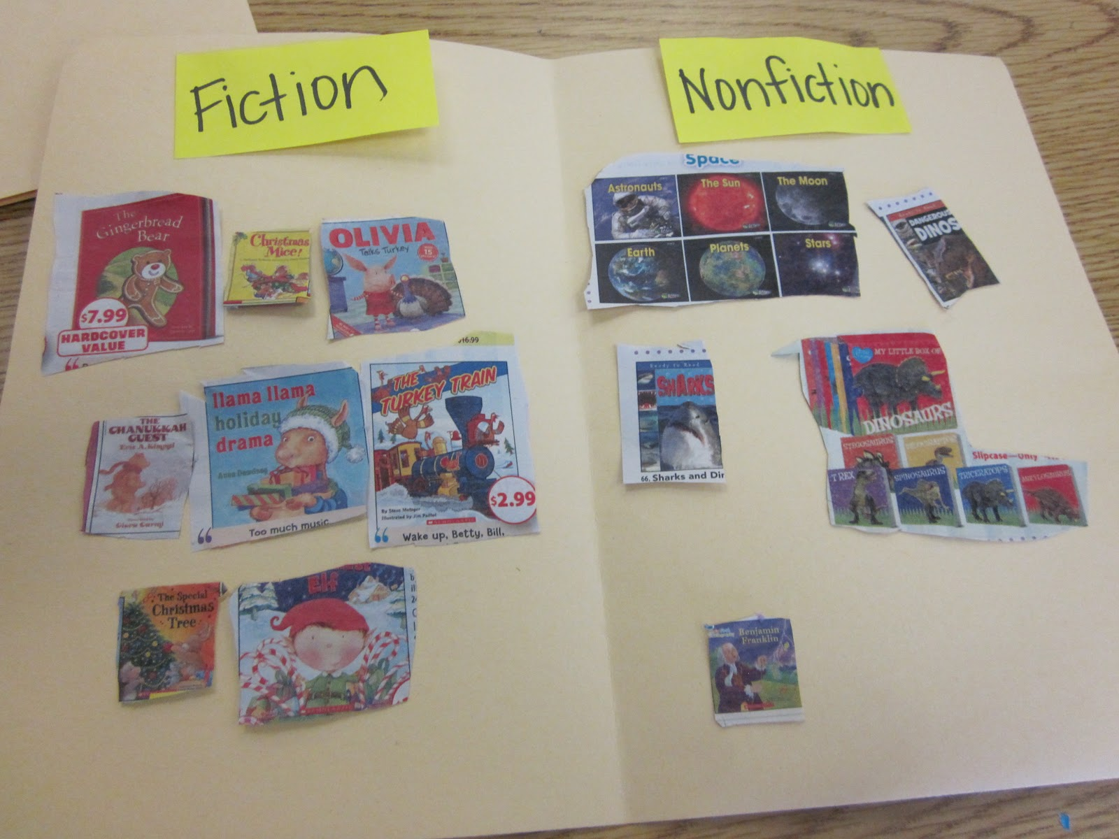 nonfiction writing activities for first grade