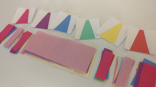 Crayon quilt block
