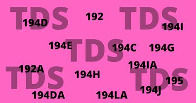 tds u/c 194,194A,194C,194I,194J
