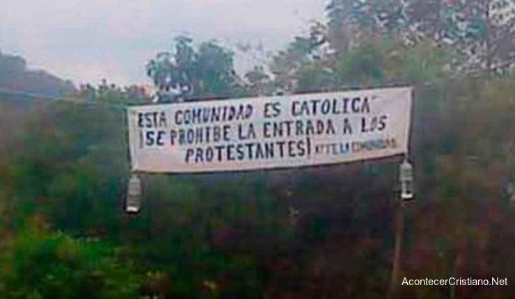 Intolerancia religiosa contra evangélicos en México