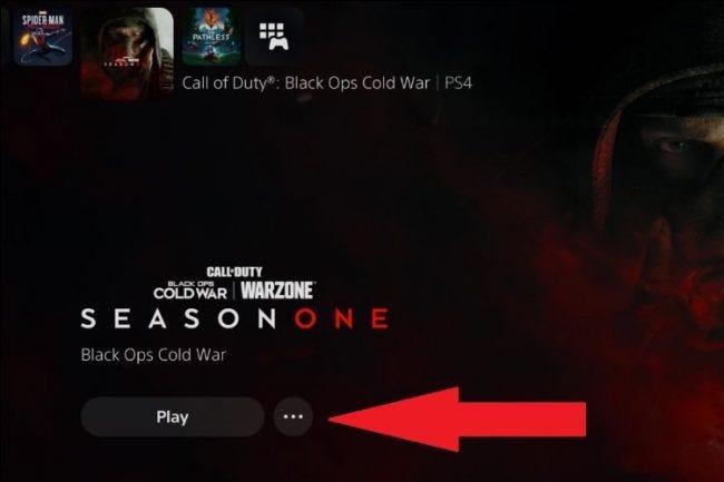 أين تجد قائمة القطع للعبة ps5