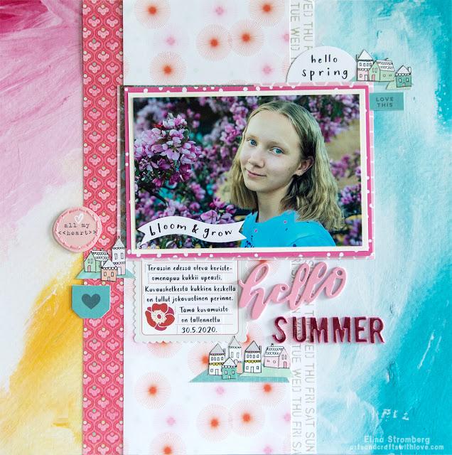 Scrapbooking layout: Hello summer