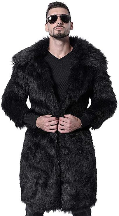 Faux Fur Coats Jackets For Men