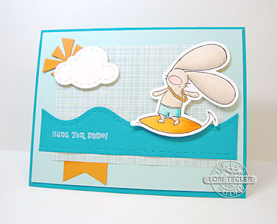 Hang Ten card-designed by Lori Tecler/Inking Aloud-stamps and dies from The Cat's Pajamas