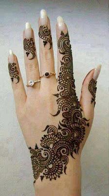 Designs of Mehndi for fingers