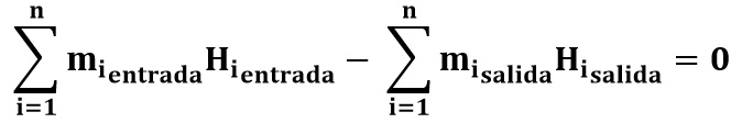 Ecuación reducida del balance de energía en procesos de mezclado
