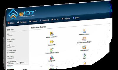 e107 CMS v1.0.3