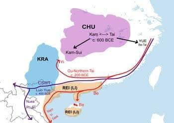 Dòng di dân chính từ hạ nguồn sông Dương Tử xuống phía nam