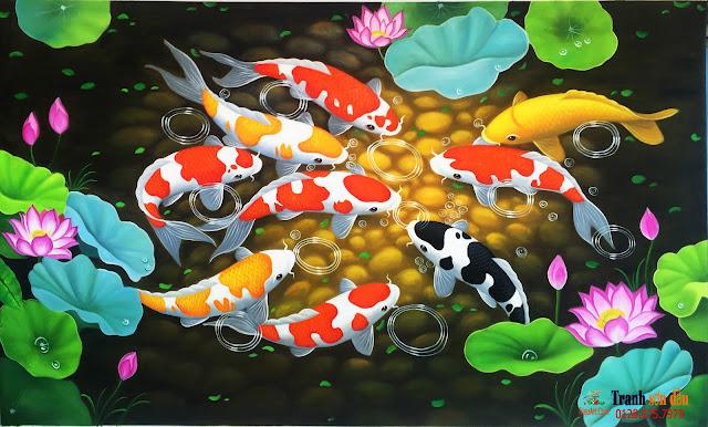 tranh cá chép đẹp