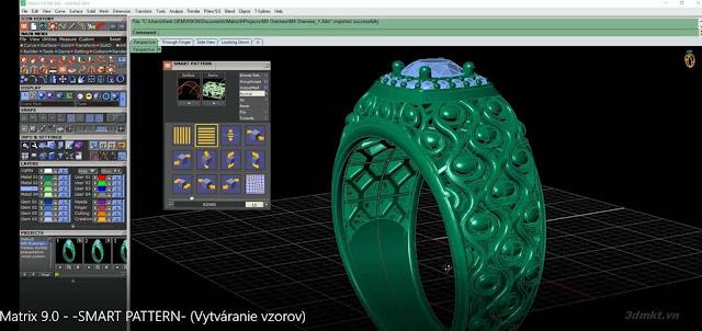 Đã có phiên bản Gemvision Matrix 9 0 x64_Nữ trang 3D | ADVANCE CAD