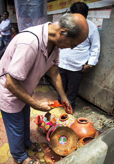 broken pots, success, govinda, dahi handi, celebration, lord krishna birth, dadar, mumbai, india, street photo,