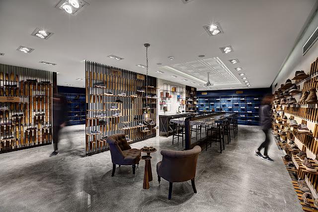 Green Pear Diaries, interiorismo, showroom, Skechers, Estambul, Turquía