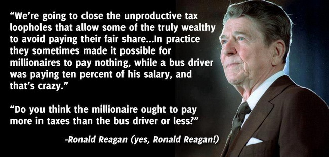 Political Memes: Ronald Reagan Quote: Tax Loopholes For The Wealthy