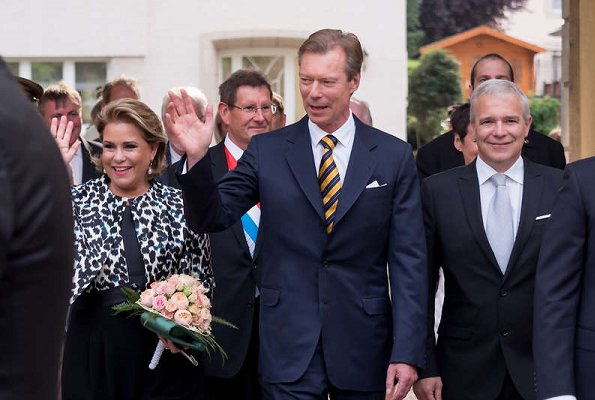 Grand Duchess Maria Teresa, Grand Duke Henri, Prince Guillaume and Princess Stephanie of Luxembourg