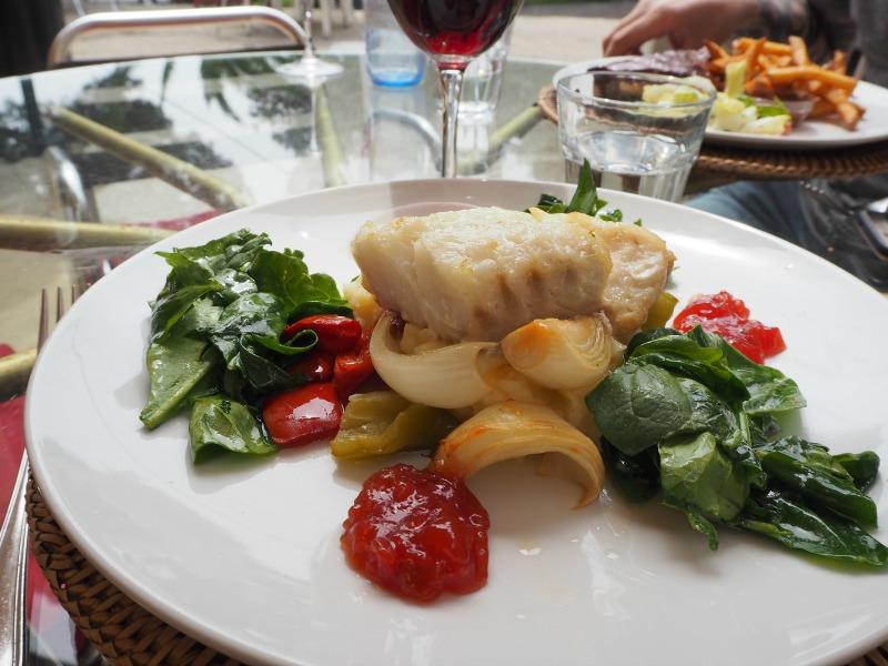 Cod dish at Las Cuevas