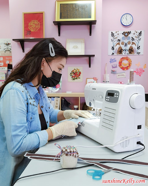 Brother FS60X Extra Tough Sewing Machine, I Sew My Denim Leather Tote Bag, Sewing Class, Brother FS60X, Brother Malaysia, Sewing Machine, Lifestyle