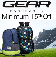 Gear Backpacks – Minimum 15% Off upto 59% Off @ Amazon