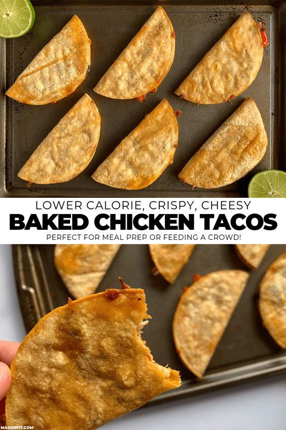 BAKED CHICKEN TACOS #recipes #healthyfoodrecipes #food #foodporn #healthy #yummy #instafood #foodie #delicious #dinner #breakfast #dessert #lunch #vegan #cake #eatclean #homemade #diet #healthyfood #cleaneating #foodstagram