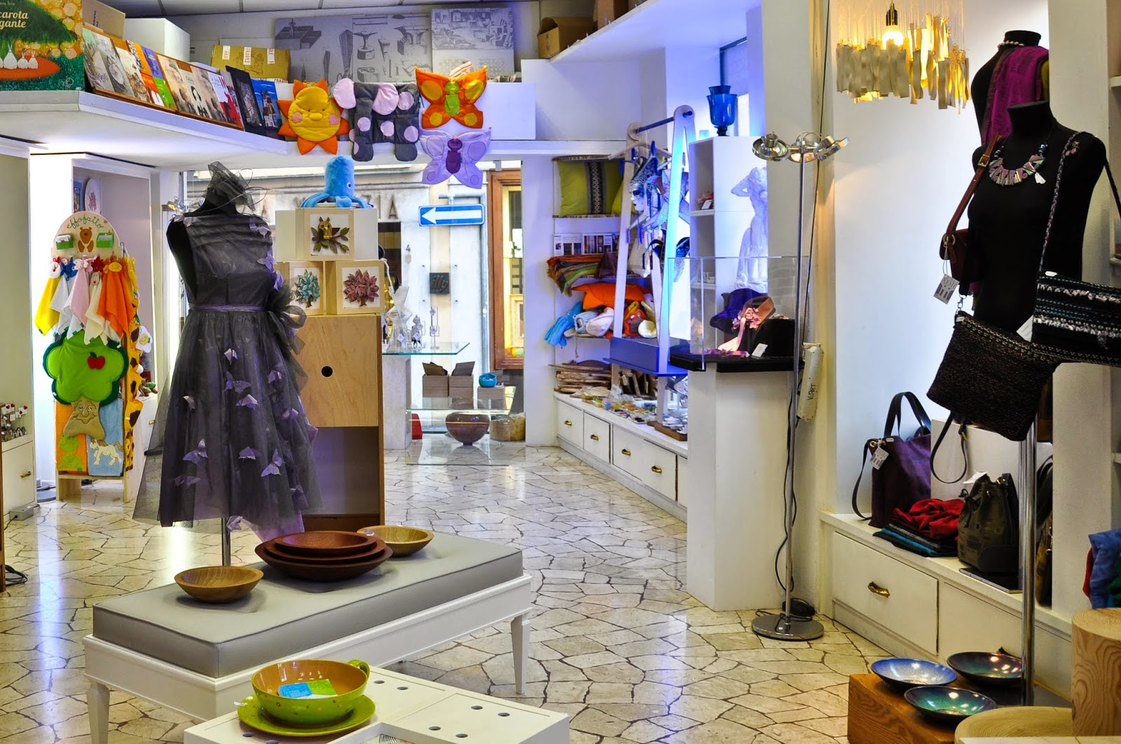 The ViArt shop in Vicenza houses a selection of handiworks by local artists