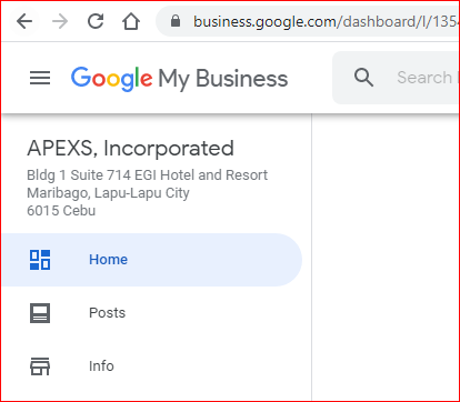 APEXS Incorporated Google presence