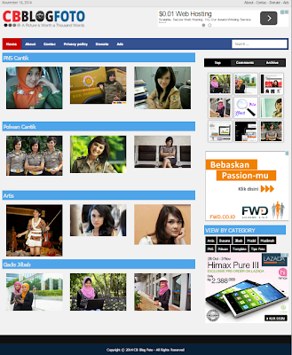 Template Blog khusus Foto (Phlog/Photolog)