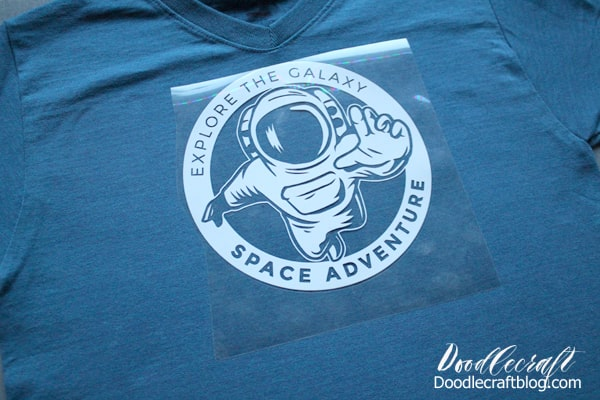 Make a Moon Landing Space Exploration Shirt to celebrate the 50th anniversary of the lunar landing with Cricut iron on vinyl, easypress 2 and the maker!